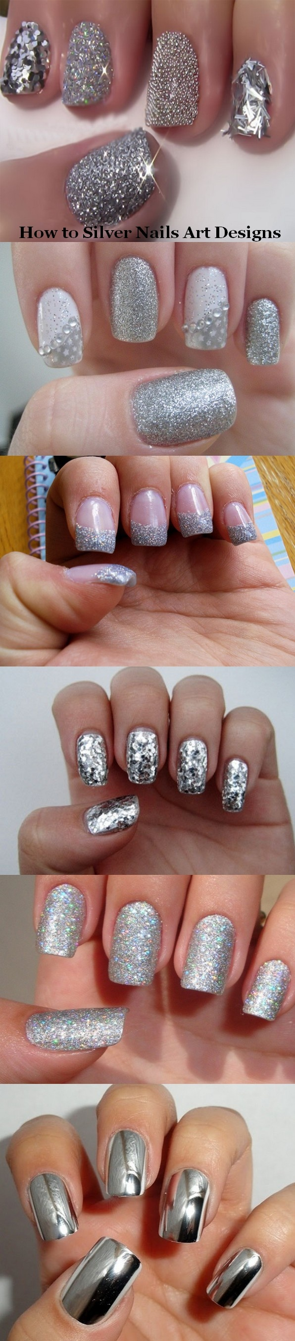 How to silver nails art designs