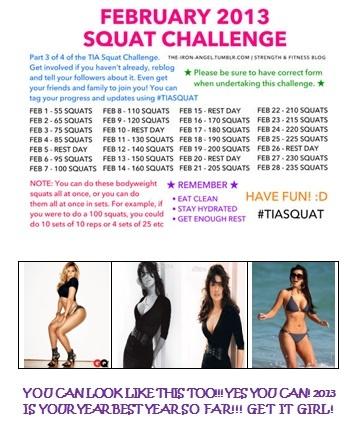 30 day squat challenge! Gettin Fit in February: Squats Challenge   Berry Dakara