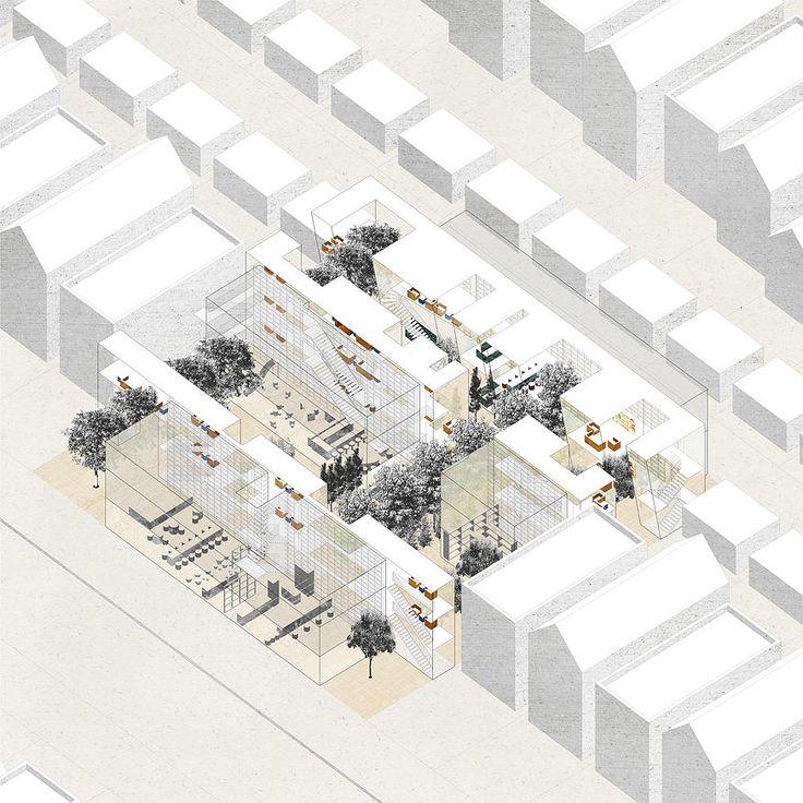 Krueck+Sexton Architects | axon rendering, Chicago biennial