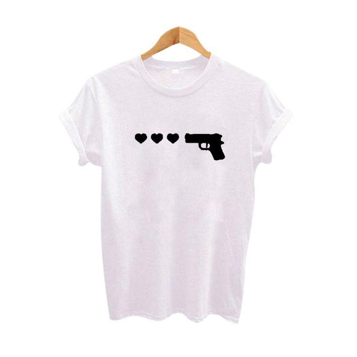 Pistolet Rose Sonnerie Drôle T shirts Tumblr Hippie Graphique t shirts Harajuku femmes t shirt D'été De Mode Tops T shirt Femme dans T-Shirts de Femmes de Vêtements et Accessoires sur AliExpress.com | Alibaba Group