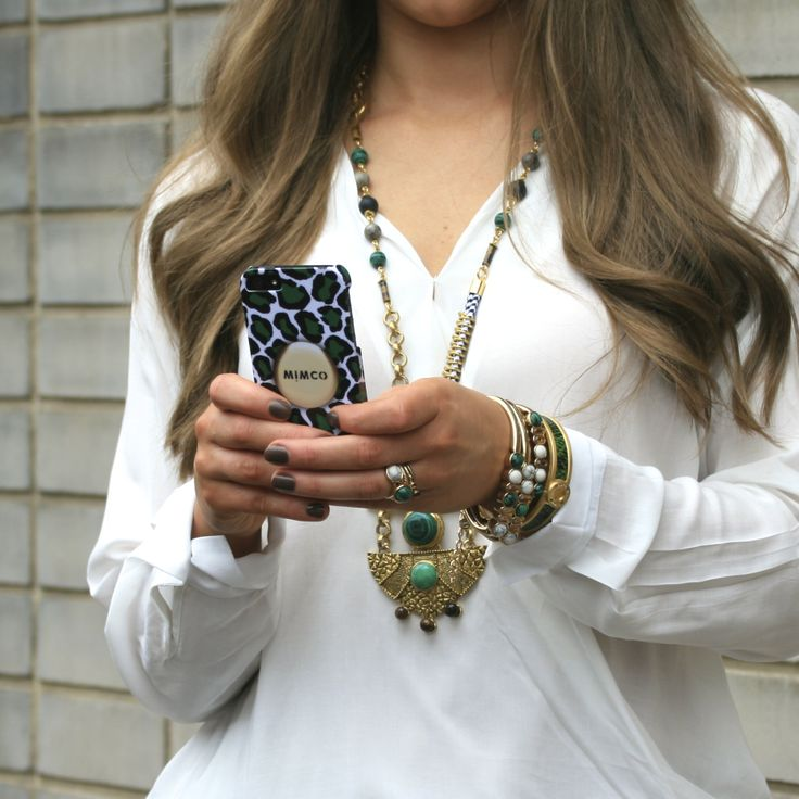 Layered up (with a touch of leopard print). #Mimco #fashion #emerald #jewellery