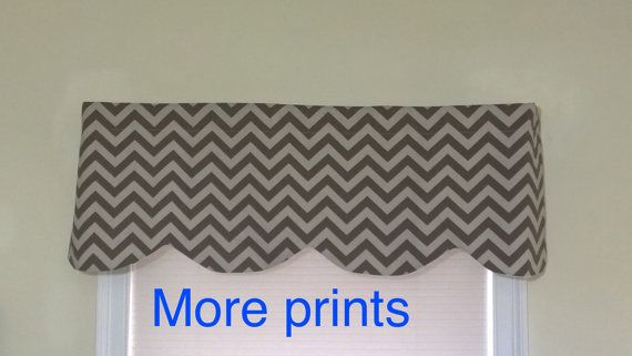 Brown chevron valance Window valance  Brown by CoolRoomDecor