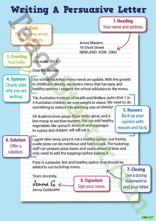 writing a persuasive letter poster teaching resource