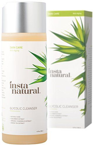 InstaNatural Glycolic Facial Cleanser  Anti Wrinkle Fine Line Age Spot  Hyperpigmentation Face Wash  Clear Dead Skin  Pores  With Glycolic Acid Organic Extract Blend  Arginine  67 OZ ** More info could be found at the image url.