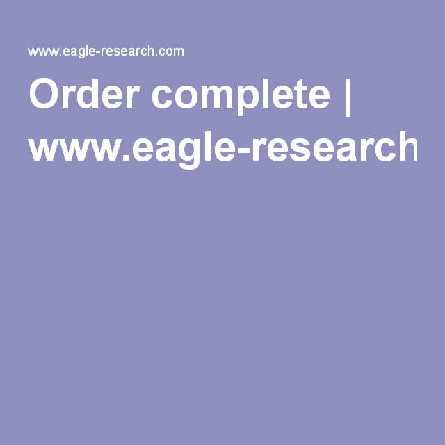 Order complete | www.eagle-research.com