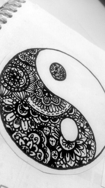 Yin Yang Henna Tattoo: 801 Best Images About Black & Gray Tattoos On Pinterest