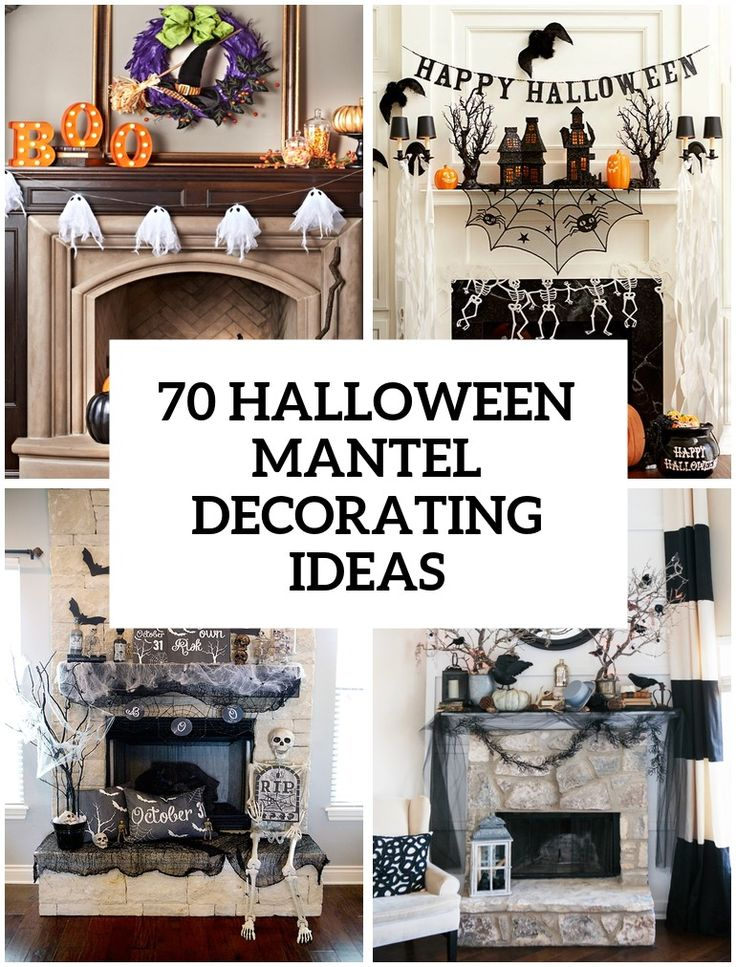 70 great halloween mantel decorating ideas - Halloween Mantle