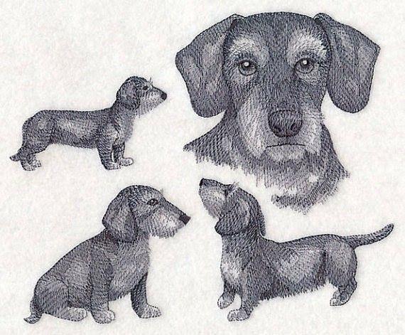 Dachshund Doxie Embroidery Design Dog Weiner Dog Embroidery