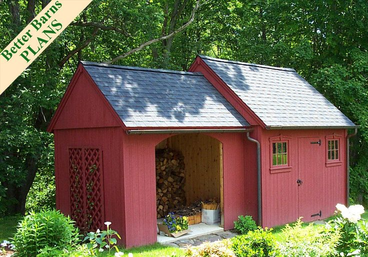 Better Barns Hardware and Plans - 8x10 Wood Storage Addition & 10x12 Cedar Colonial Plan