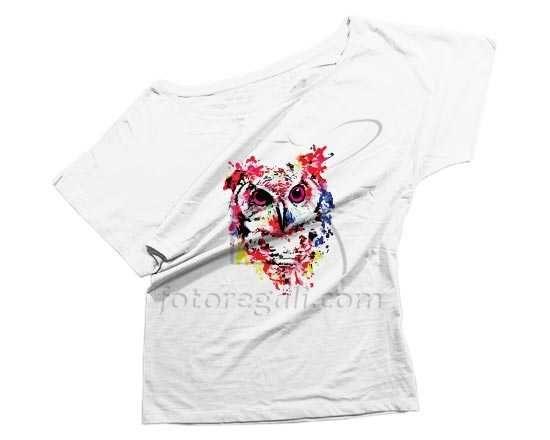 T-shirt donna con grafica con gufo