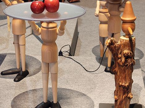 These Wooden Guys Were A Real Eye Catcher At Salone Del Mobile! #mymycs