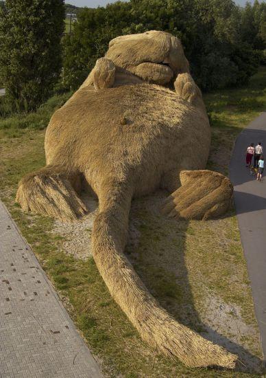 Musk Rat  Nieuwerkerk aan den Ijssel 2004: Aan Dennings, Playground, Rats Sculpture, Dennings Ijssel, Parties, Musk Rats, The Netherlands, Florentijn Hofman, Metals Wire