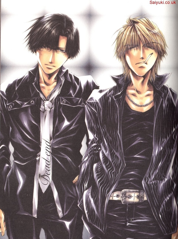 Cho Hakkai and Genjyo Sanzo *Sanzo looks so hot here... like every other picture of Sanzo* - Saiyuki