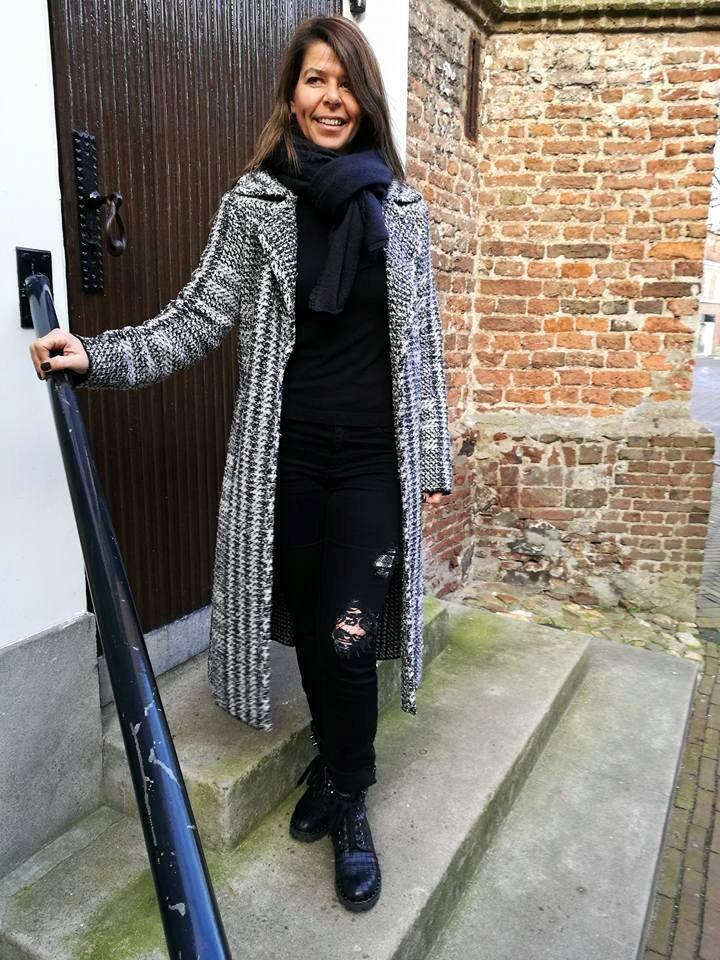 Vest van Marc Cain in de #Mix&Match met jeans en boots, ook van Marc Cain. #Sale #HBMODE, Ommen: Fashion in Overijssel
