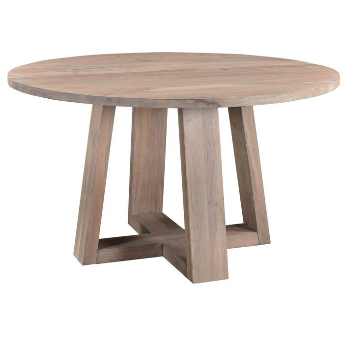Follett Solid Wood Dining Table In 2020 Glass Round Dining Table