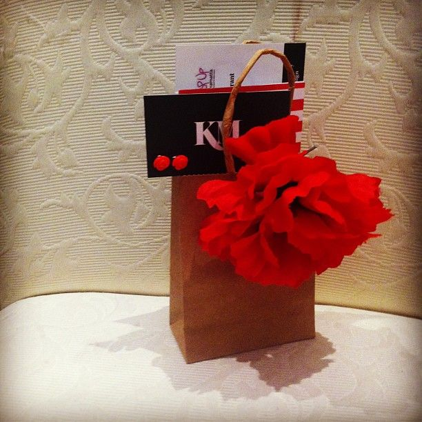 Goodie Bag from Work to Wow; a corporate styling night with Ruth Fattal Haute Couture and Kate McCoy Jewellery and Accessories.