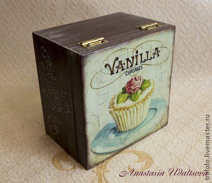 """Шкатулки ручной работы. Ярмарка Мастеров - ручная работа Короб для сладостей """"Vanilla"""" (продано). Handmade."""