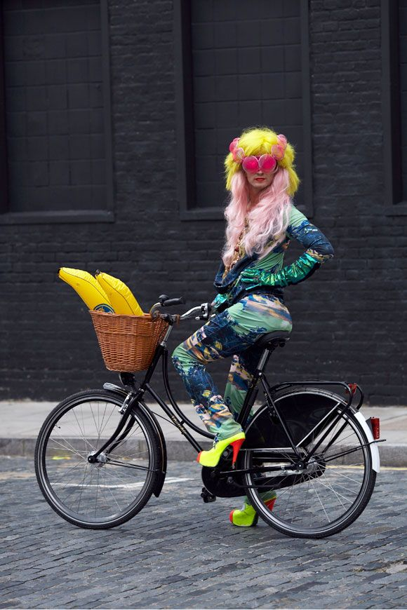 drag queen on a bicycle - best image I think