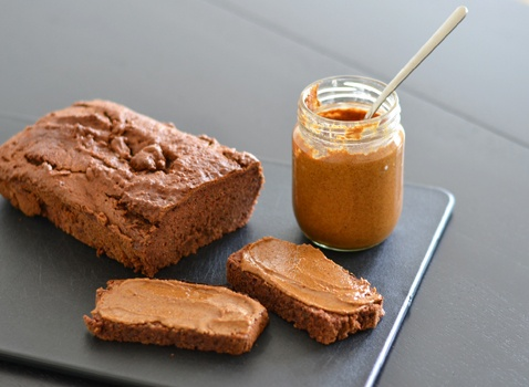 Gluten free paleo bread and almond butter