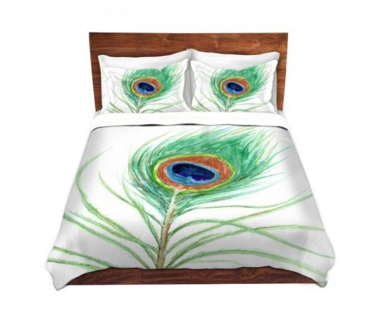 duvet cover peacock feather painting nature modern bedding queen size duvet cover king size duvet cover
