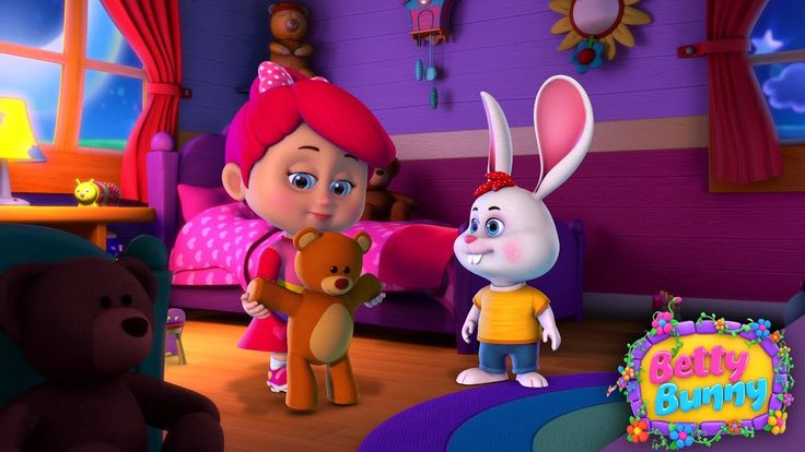 Teddy Bear, Teddy Bear, Turn Around | Nursery Rhymes for Kids and Children | Baby Song Betty Bunny
