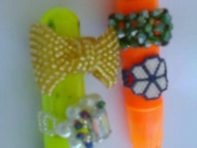 Miyuki, Kum Boncuk Ve Kristalden Yüzük Örnekleri    Miyuki Beads Rings