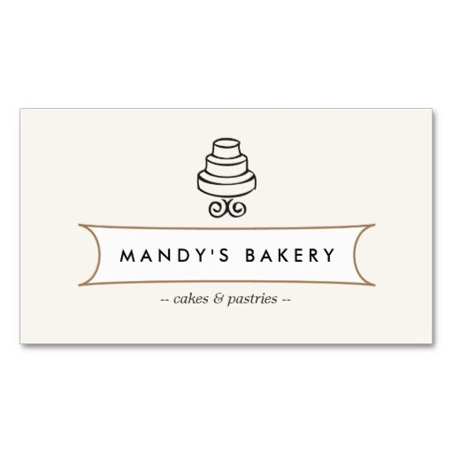 371 best bakery business cards images on pinterest bakeries vintage cake logo i for bakery cafe catering business card reheart Choice Image