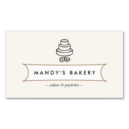 367 best bakery business cards images on pinterest bakery business vintage cake logo i for bakery cafe catering business card flashek Gallery