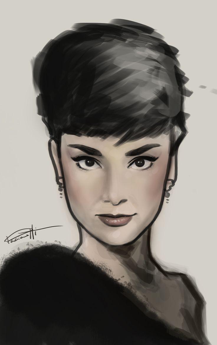 Audrey Hepburn speed painting. by le0arts.deviantart.com on @deviantART
