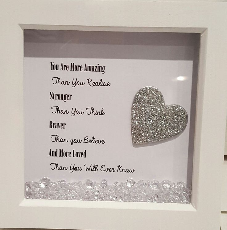 Box frame mother's day gift, gems, glitter , personalised by CraftyMummasCrafts on Etsy