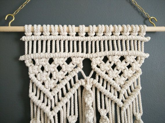 Macrame wall hanging tassel macramé bohemian weaving wall art
