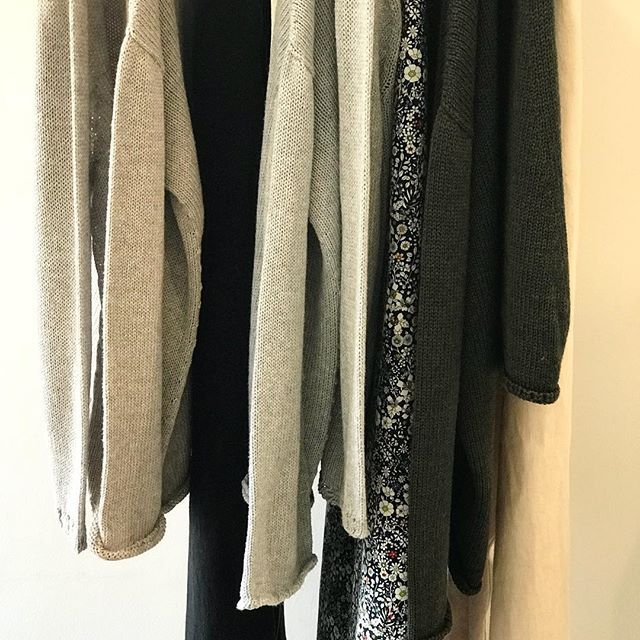 Just received another delivery of gorgeous @lunagallery knits... combed cotton is the perfect weight for now and great for layering in the cooler months... in store now @jiva_clothing #knits #cotton #australianmade