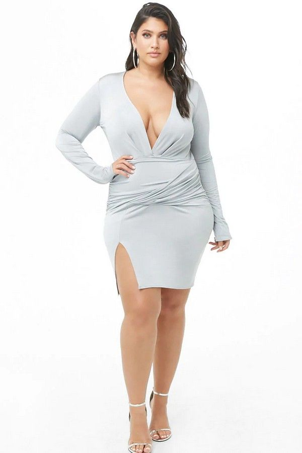 deef0202302 Plus Size Plunging Bodycon Dress  35.00  fashion  ootd  outfit  oufits   moda  plussize  dress  dresses  plussizeclothing  plussizedress  curve   curvy  sexy ...