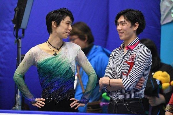 今年のNHK杯には羽生と田中(右)、そして日野の同学年3人が集った