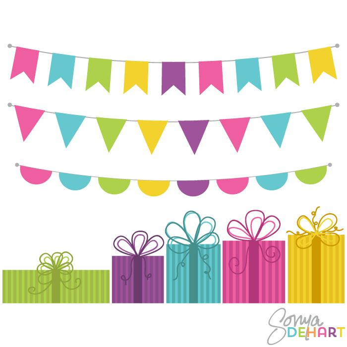 Free Bunting Banner Clip Art