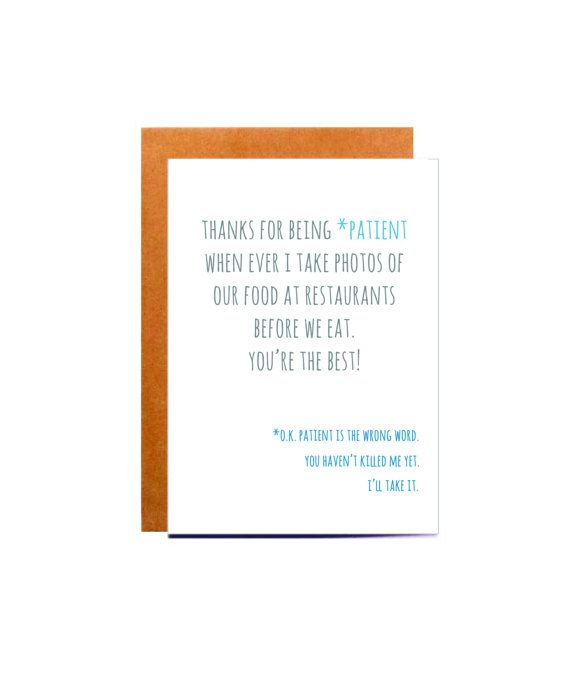 funny boyfriend birthday card, thank you card, funny birthday card, funny best… …