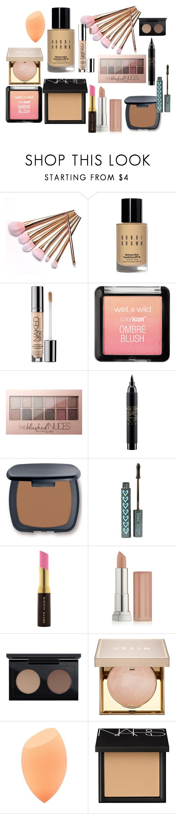 """""""Make up look!"""" by fashiongeekro ❤ liked on Polyvore featuring beauty, Bobbi Brown Cosmetics, Urban Decay, Maybelline, MAC Cosmetics, Bare Escentuals, Kevyn Aucoin, Stila and NARS Cosmetics"""