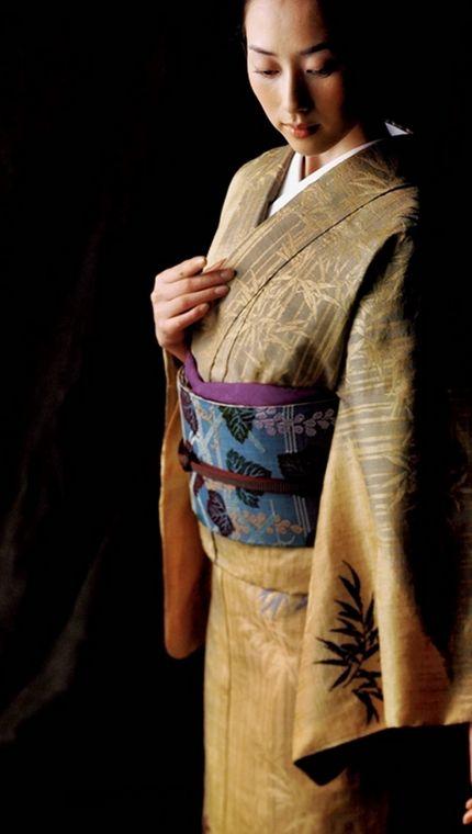 kimono 着物 / 笹竹柄 / 源氏屋(永治屋 清左衛門)