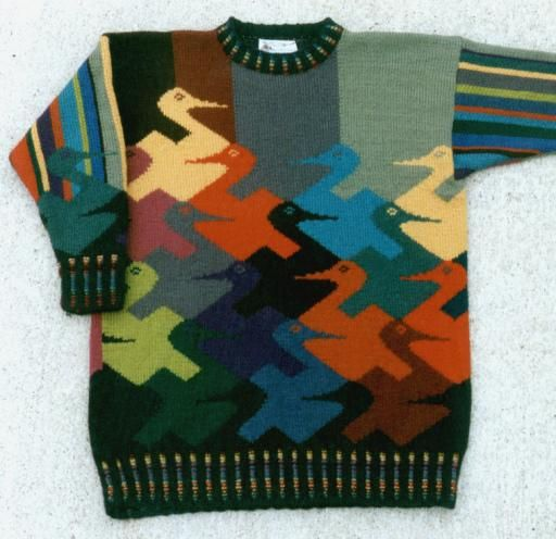 The Duck Sweater, inspired by the works of the graphic artist and mathematician, MC Escher