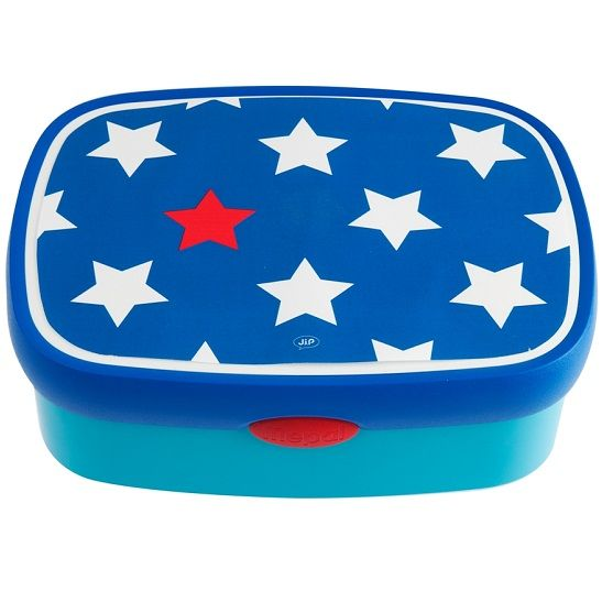 JIP Blue with Stars Lunch Box available at KidsDoTravel #picnics #kidslunch #backtoschool http://kidsdotravel.co.uk/childrens-lunch-bags-and-drinks-bottles/lunch-bags-and-lunch-boxes-for-girls/blue-stars-lunch-box