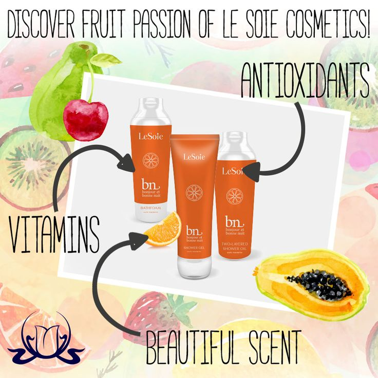 Discover #fruit passion of Le Soie Cosmetics! Fruits in #cosmetics give them not only a #beautiful scent and colour, but their properties are used in anti-ageing cosmetics; brightening, firming and improving our skin quality. Ingredients contained in fruits, protect the skin from the harmful influences of external factors and provide the skin with essential vitamins and #antioxidants.  #SkinCare