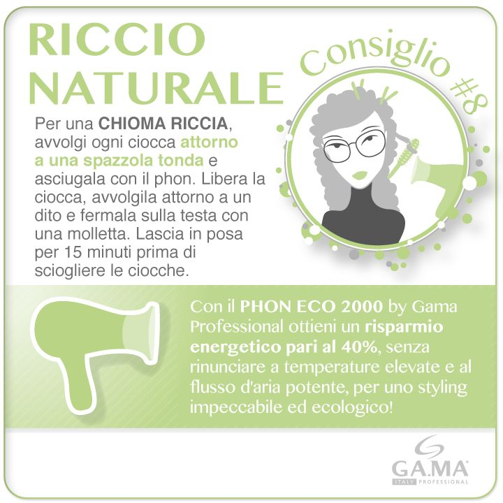 #capelli ricci senza bigodini? Con una spazzola tonda e il #phon ECO 2000 by #GamaProfessional, per un risparmio energetico del 40%! /// #curly #hair without hair rollers? Follow Gama's #tips with a round brush, an #hairdryer and hair clips! Try ECO 2000 #hairdryers, to have 40% energy saving! www.gamaprofessional.it/Asciugacapelli/ECO_2000 #gamaconsiglia #gama #gamaitalia #asciugacapelli #dryer #dryers  #blowdry #beautytechnology #hairtips #howto #tutorial #capelliricci #curlyhair…