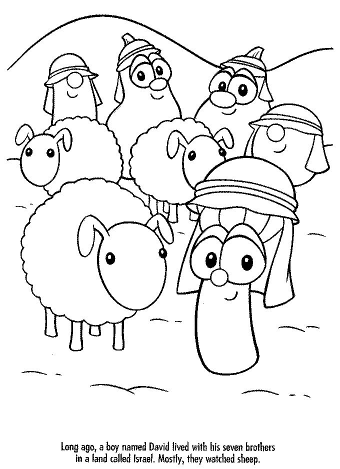 Pinterest the world s catalog of ideas for Veggie tales coloring pages