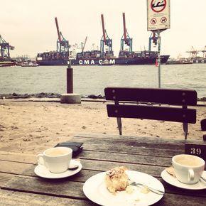 Strandperle an der Elbe. | Strandperle hamburg, Hamburg ...