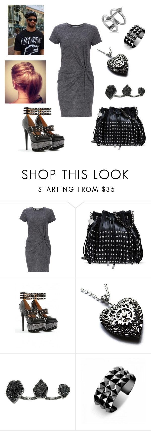 """""""Seth Rollins: you wear a t-shirt dress"""" by dpclma ❤ liked on Polyvore featuring Audrey 3+1, STELLA McCARTNEY, Kendra Scott, Waterford, Allurez and CO"""