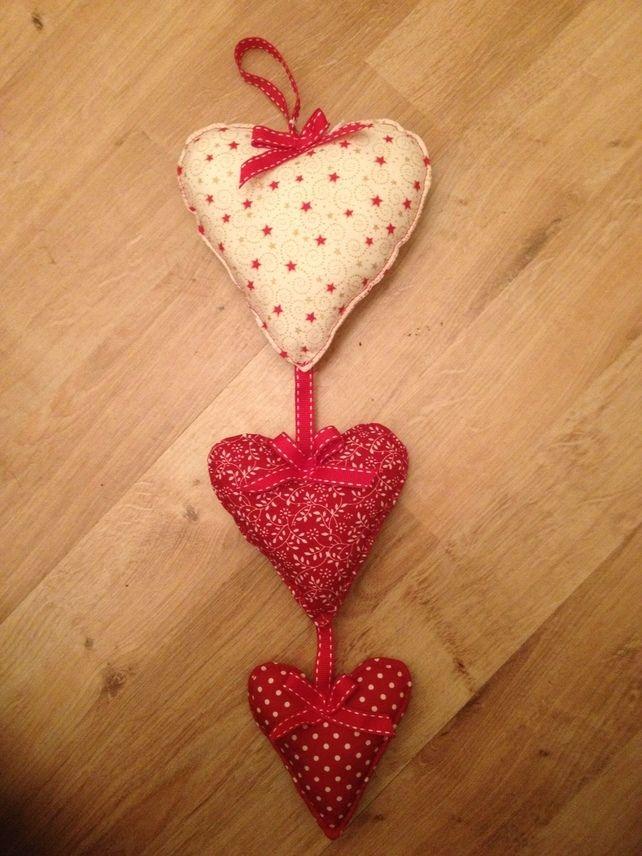 Three Hanging Love Hearts