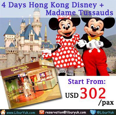 Anda ingin jalan-jalan ke #Disneyland Hong Kong sekaligus mengunjungi #Madame #Tussauds? Yuk wujudkan keinginan Anda sekarang juga,kini telah tersedia paket 4 Hari Hong Kong Disneyland + Madame Tussauds. Dapatkan paketnya sekarang juga dengan harga spesial.  Dapatkan Spesial Paket tersebut dari LiburYuk http://liburyuk.com/promotional-package/book/809412832/4D-Hongkong-Disney-+-Madame-Tussauds #jalan2 #holiday #abbeytravel #hongkong
