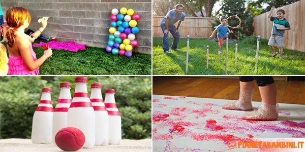 Eccovi 10 idee molto simpatiche per giochi fai da te per bambini da fare in giardino o all'aperto, facili da costruire usando materiali semplici e comuni