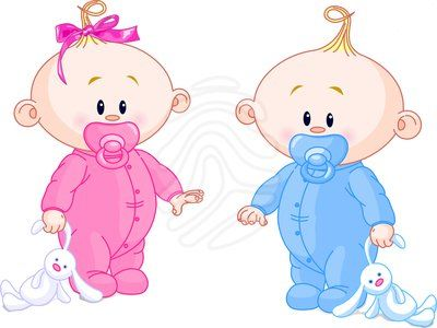animated baby | Twin Babies - clipart #17954965
