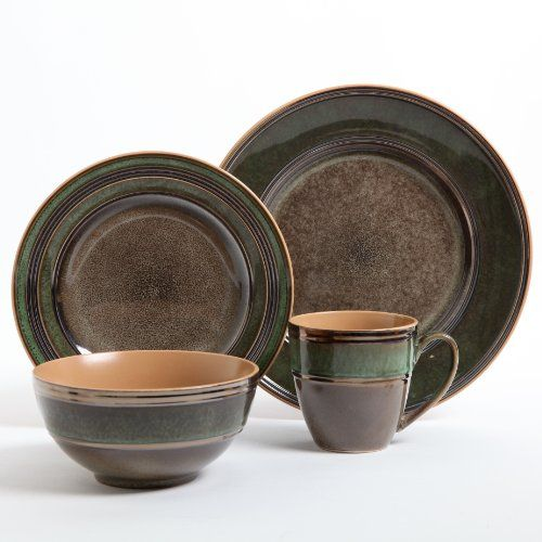 Gibson Marmara Park 16-Piece Dinnerware Set Brown and Green Gibson /  sc 1 st  Pinterest & 25 best Dinnerware images on Pinterest | Dish sets Dishes and Kitchens